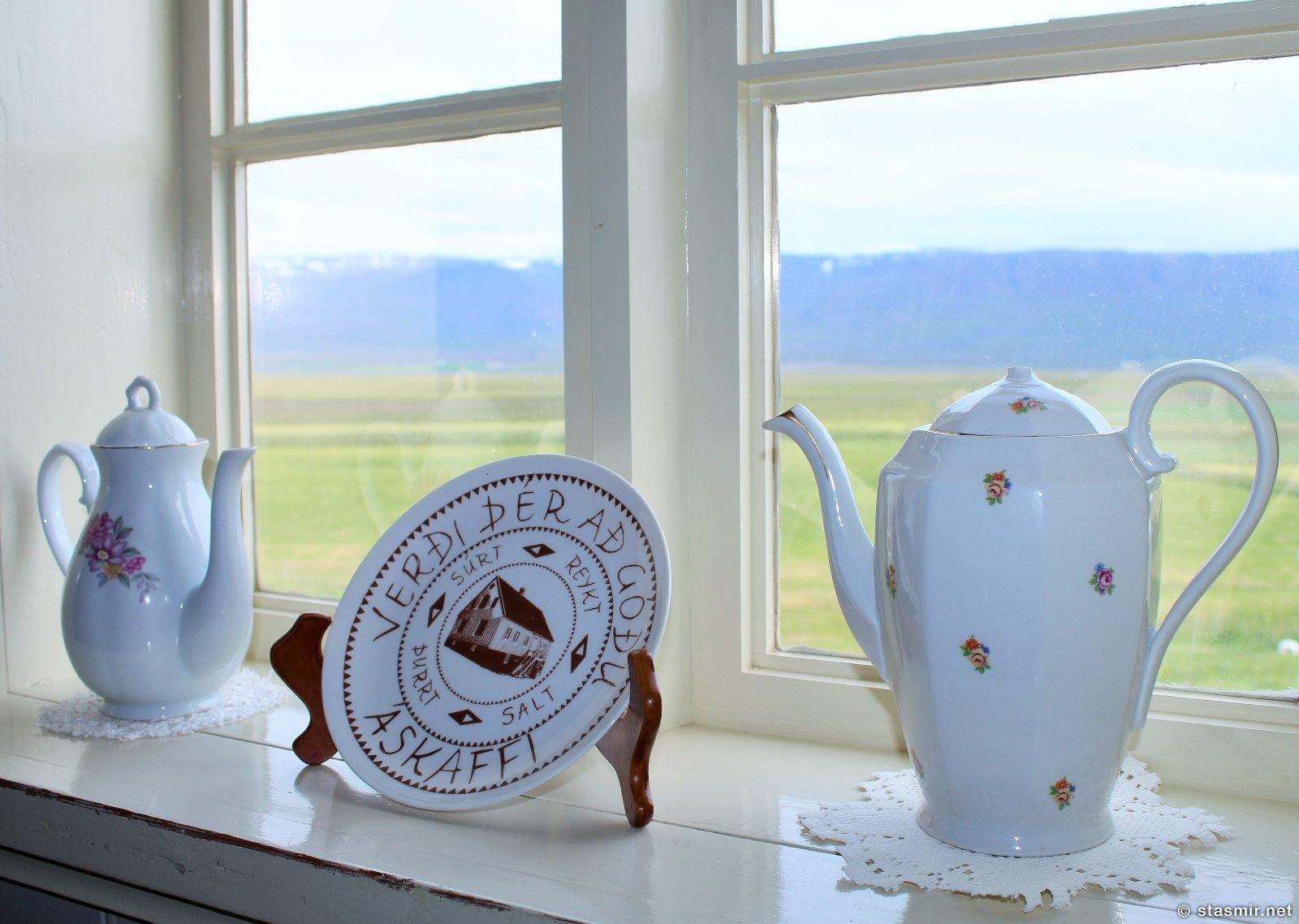 подоконник на ферме-музее Лёйваус, Laufás, Фото Стасмир, Photo Stasmir