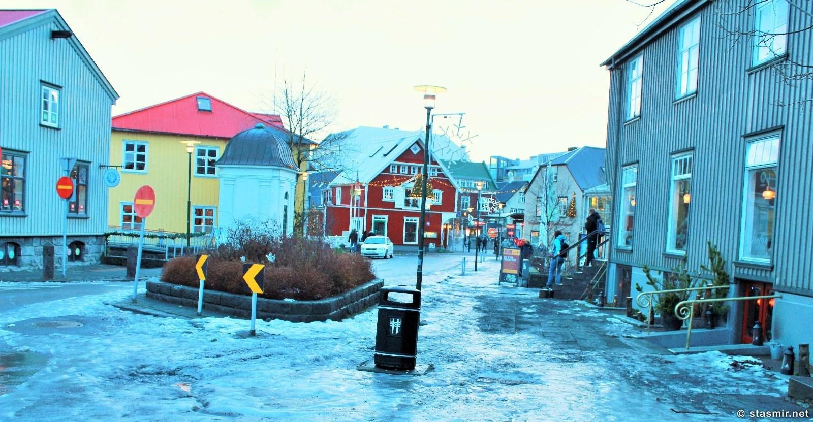 Зимний Рейкьявик под Новый Год - дикий гололед, фото Стасмир, Photo Stasmir