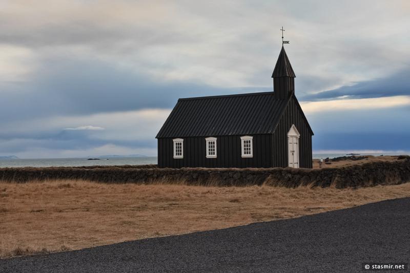 Церковь Búðakirkja на полуострове Снайфедльснес, 1848