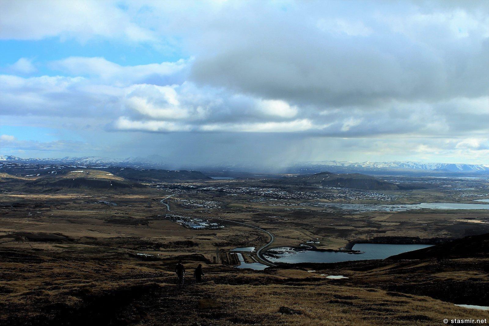 вид с горы Эсья на Рейкьявик, фото Стасмир, photo Stasmir