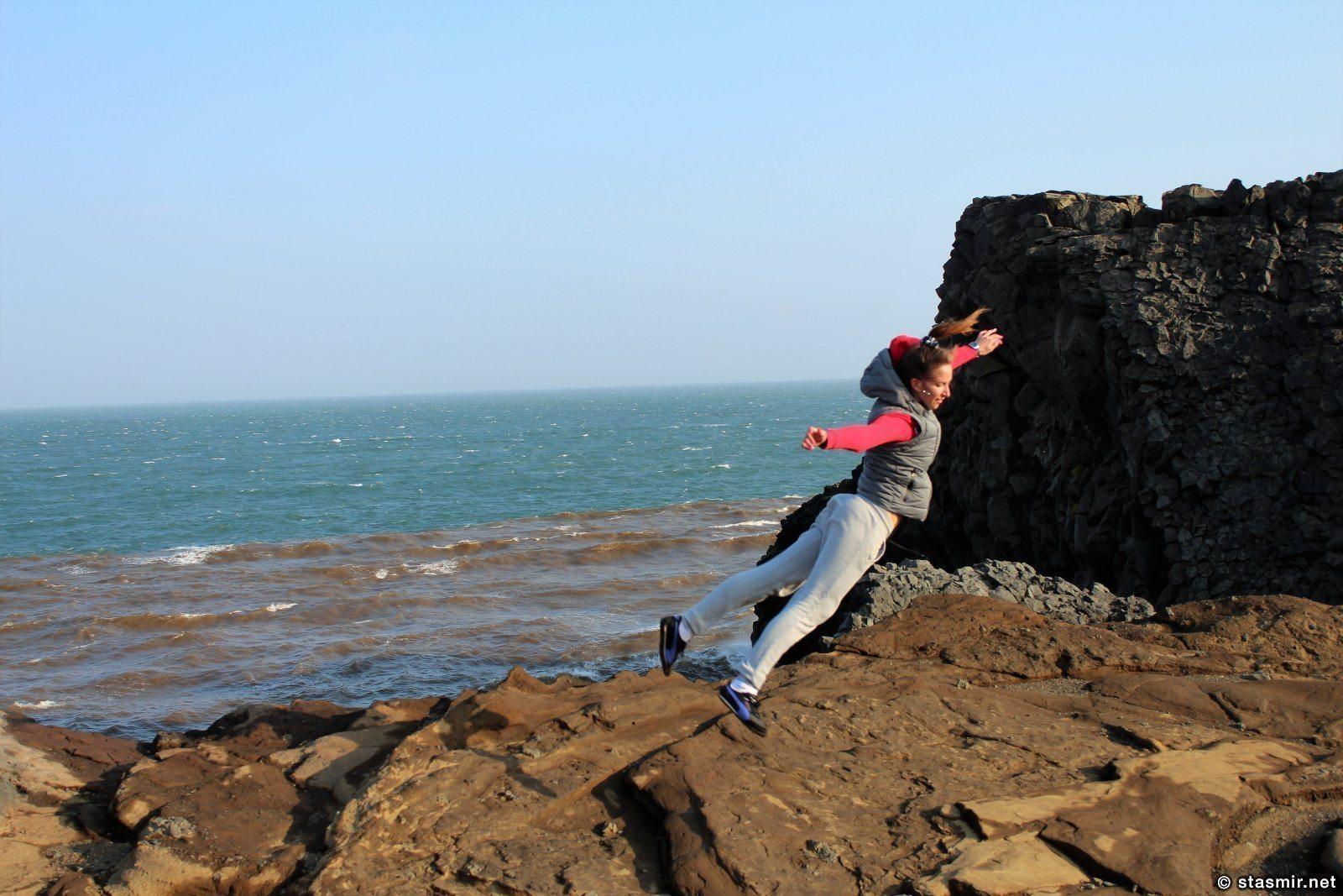 Прыжок на Dýrhólaey, photo Stasmir, Фото Стасмир