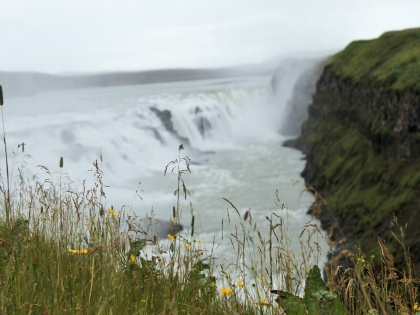 Гутльфосс, Гюдльфосс, Золотой Водопад в Исландии летом на маршруте Золотое Кольцо Исландии, Gullfoss, Фото Стасмир, Photo Stasmir
