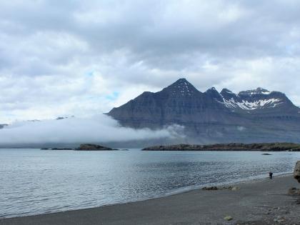 Восточные фьорды Исландии, East Fjords, Восточная Исландия, Хёбн, Горы, Туман, пляж, Стасмир, Станислав Смирнов, Исландия, Photo Stasmir