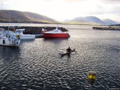каяк, иннуит, охотник-гренландец, Акюрейри, Eyjafjörður, Эйя-фьорд, Северная Исландия, Акюрейри, Photo Stasmir
