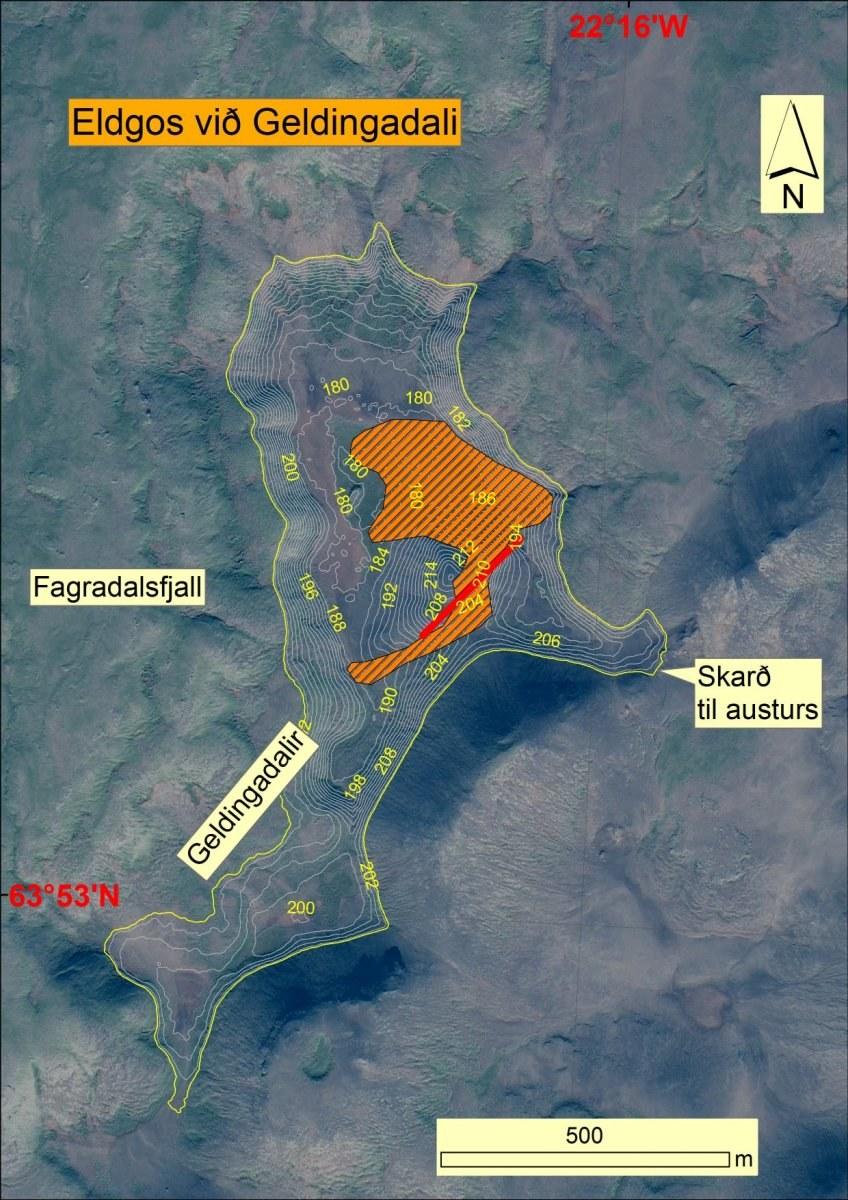 схема извержения из газеты mbl.is