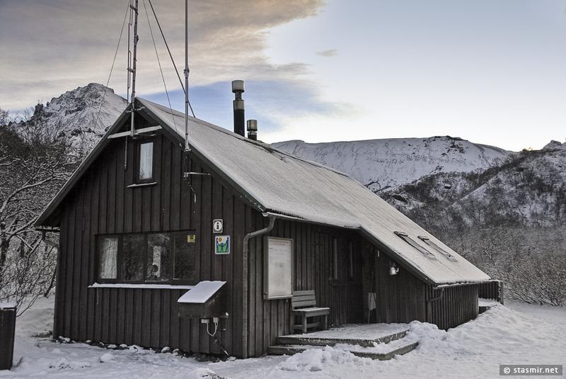 Домик рейнджера в парке Торсморк (Þórsmörk)