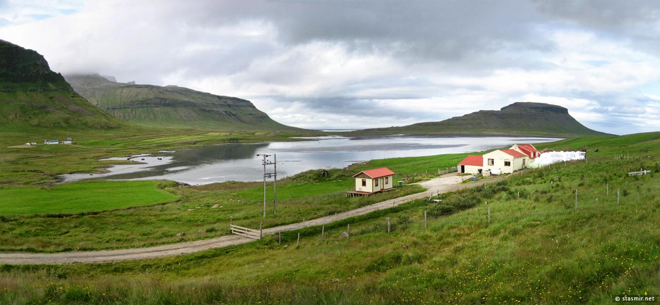 Хозяйственная часть фермы на полуострове Снайфедльснес