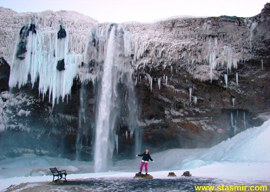 Seljalandsfoss, Сельяландсфосс, Южный Берег, Исландия, фото Стасмир, photo Stasmir