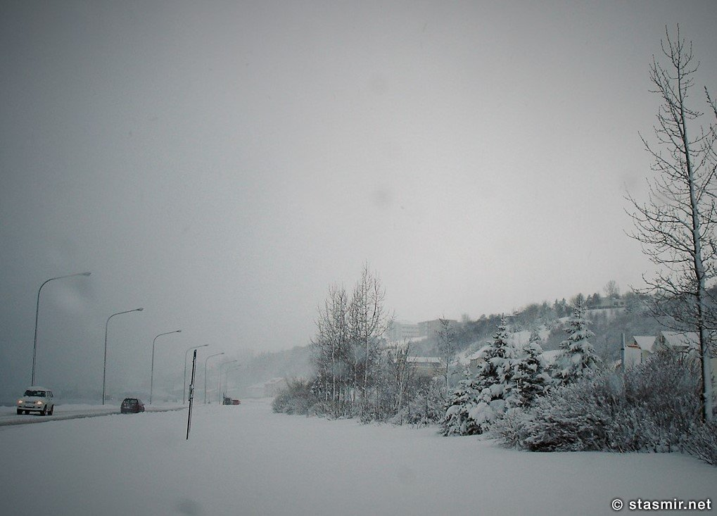 Akureyri in winter, Акюрейри зимой, северная столица Исландии, Северная Исландия, Брильянтовое кольцо Исландии, культурная столица Исландии, Photo Stasmir