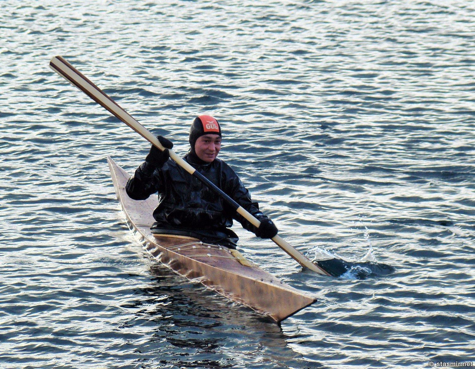 Акюрейри, Eyjafjörður, Эйя-фьорд, Северная Исландия, Акюрейри, охотник-инуит, каяк, Photo Stasmir