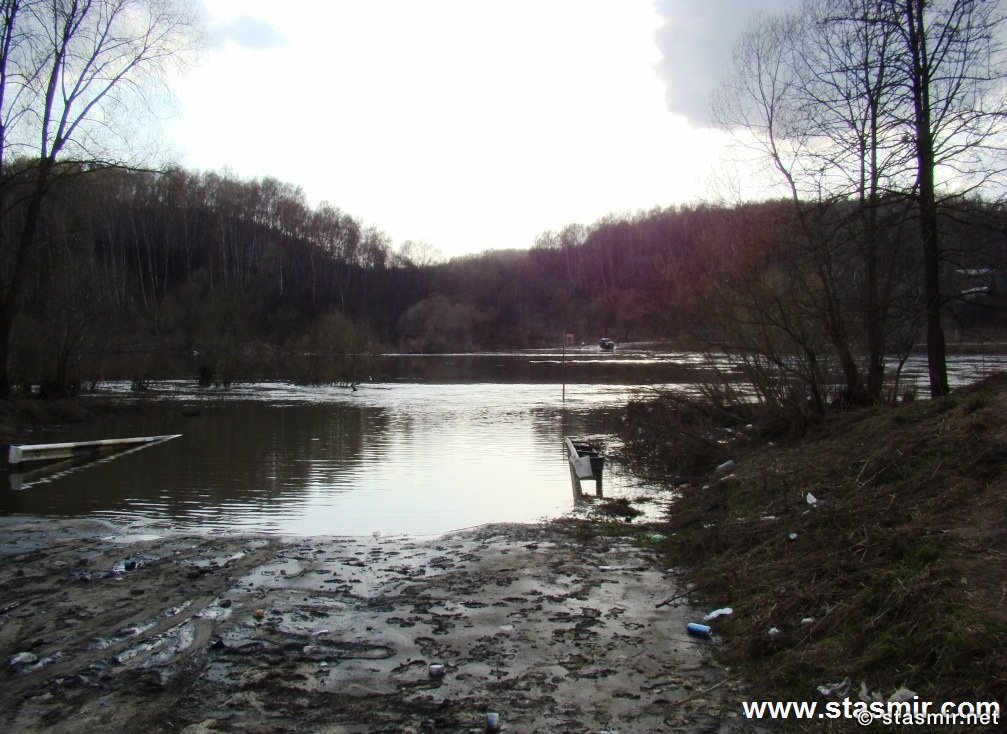 Половодье, Река Ока, Калужские края, разлив реки, Фото Стасмир, Photo Stasmir
