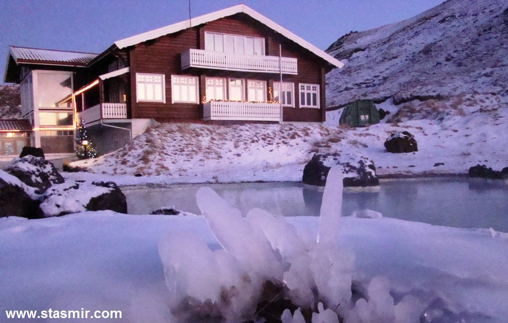 Skíðaskálinn, Лыжный ресторан, Зимняя Исландия, Золотое кольцо Исландии, photo Stasmir, фото Стасмир