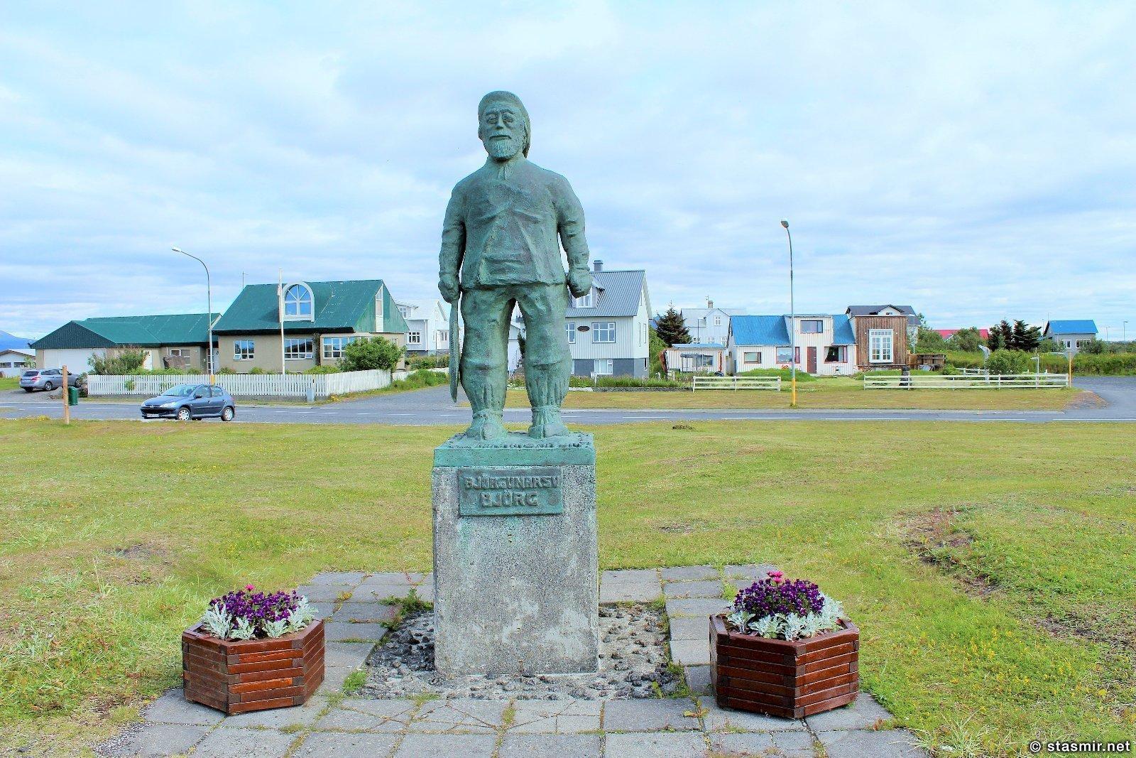 Эйрабакки, памятник рыбаку, Южный Берег Исландии, Photo Stasmir