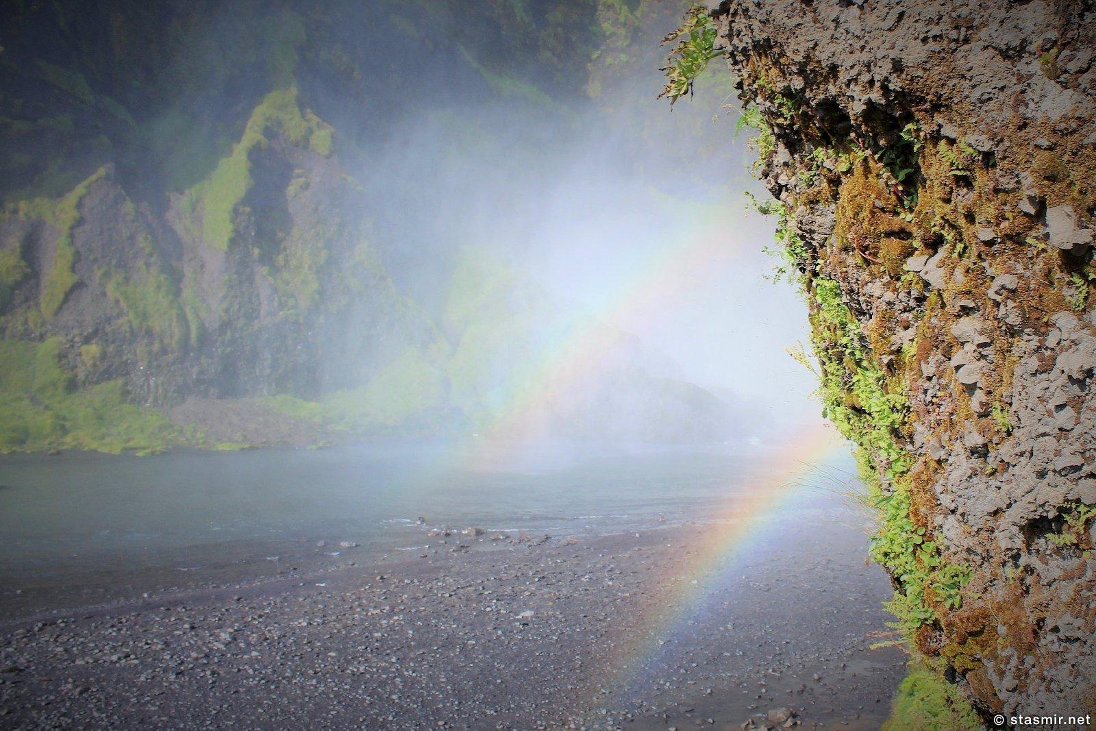 Seljalandsfoss по дороге в Þórsmörk, Южный Берег и водопады Исландии, радуги в Исландии, фото Стасмир, Photo Stasmir