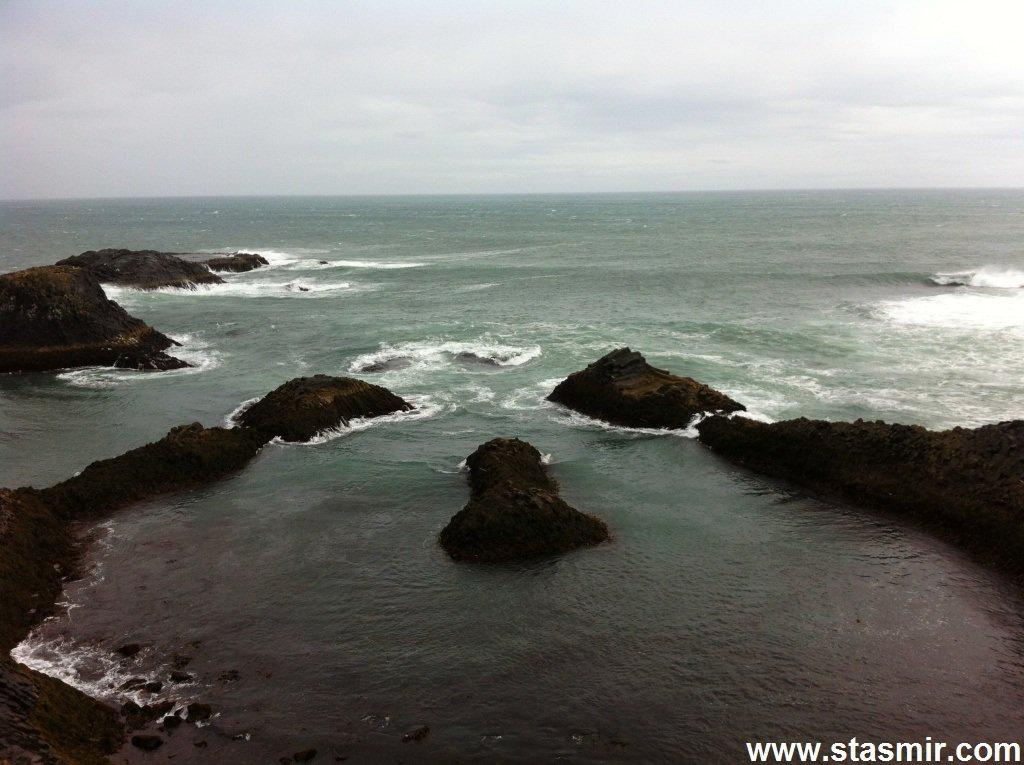 Ocean, фаллические скалы в Западной Исландии, Снайфедльснес, фото Стасмир, photo Stasmir