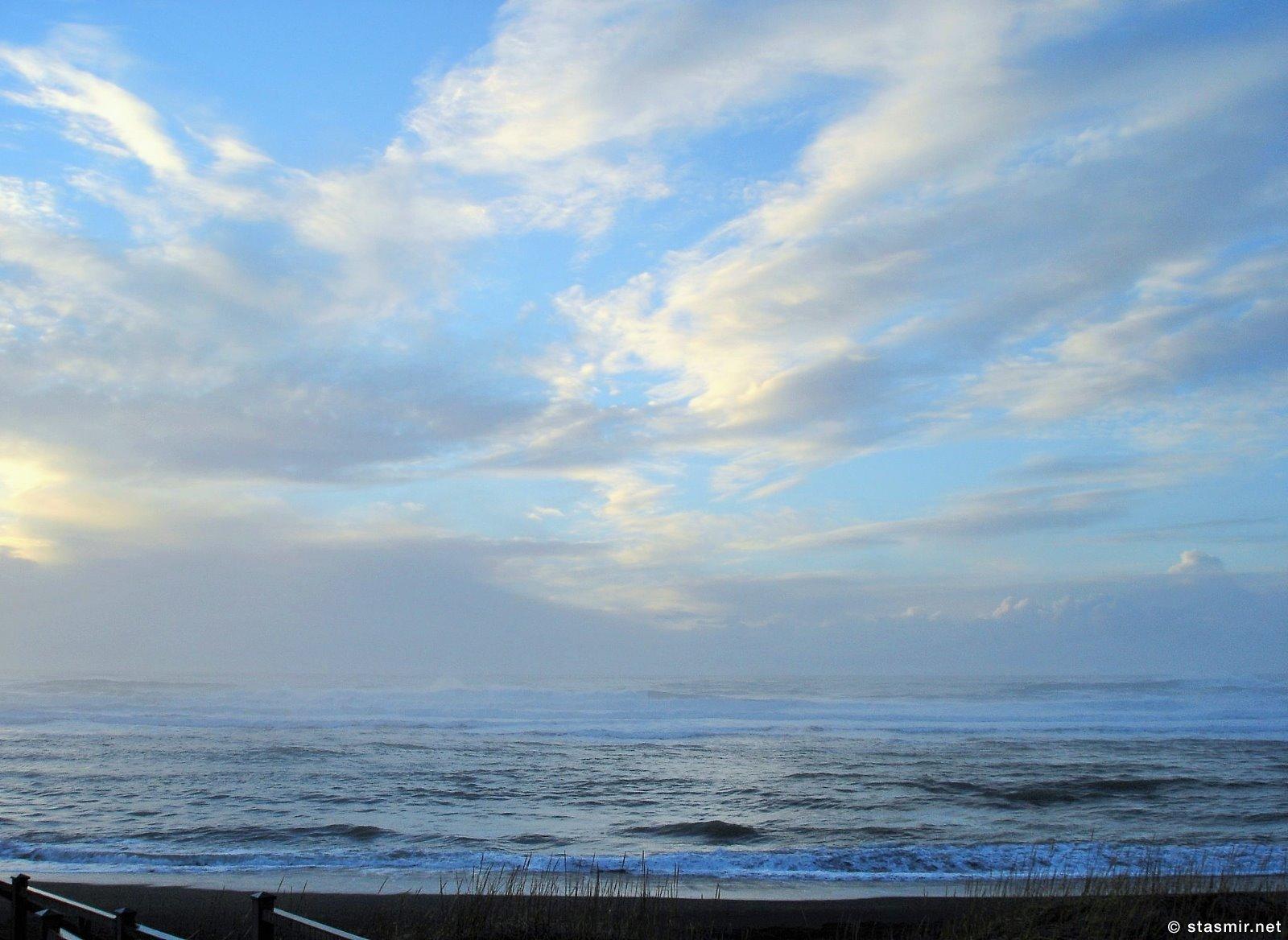 Небо над Атлантическим океаном на Южной Берегу Исландии, вид от ресторана «Hafið Bláa», фото Стасмир, Photo Stasmir