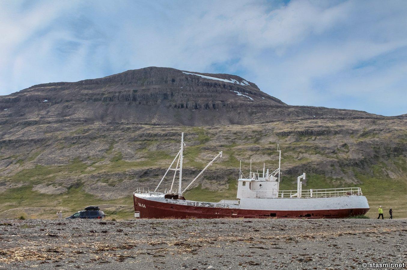 Судно «Garðar BA64» вросло в пески Западных Фьордов, Вестфирдир, Vestfirðir, West Fjords, фото Станислав Смирнов, Photo Stasmir, Фото Стасмир, Фото Станислав Смирнов
