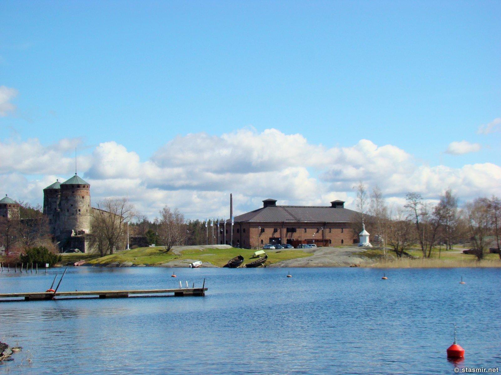 Вид на крепость Савонлинна, Олавинлинна, Олафсборг, на озерах Хаапавеси и Пихлаявеси весной, фото Стасмир, Photo Stasmir