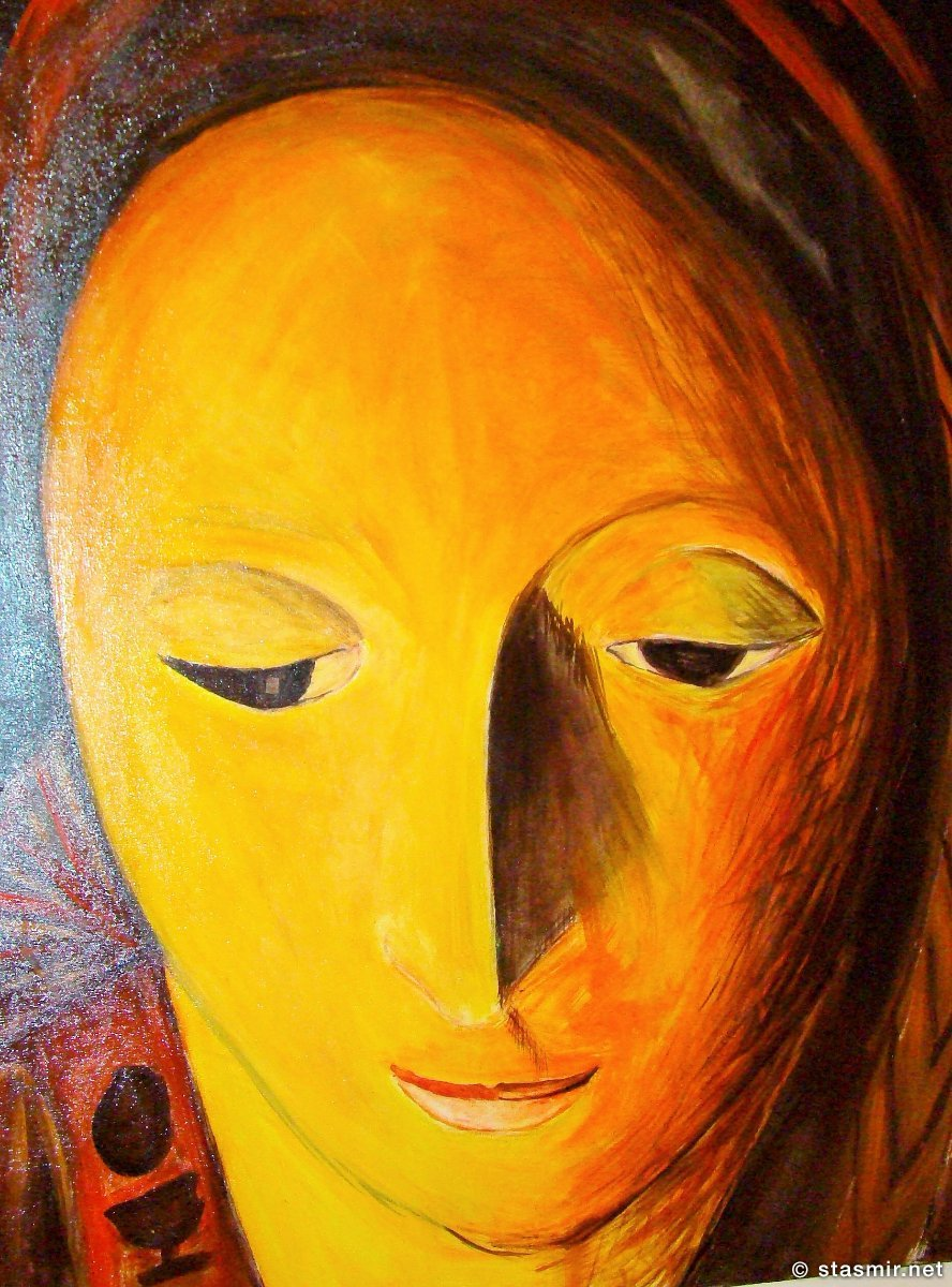 тревога в глазах полотна итальянской художнницы в Лечче, фото Стасмир, Photo Stasmir