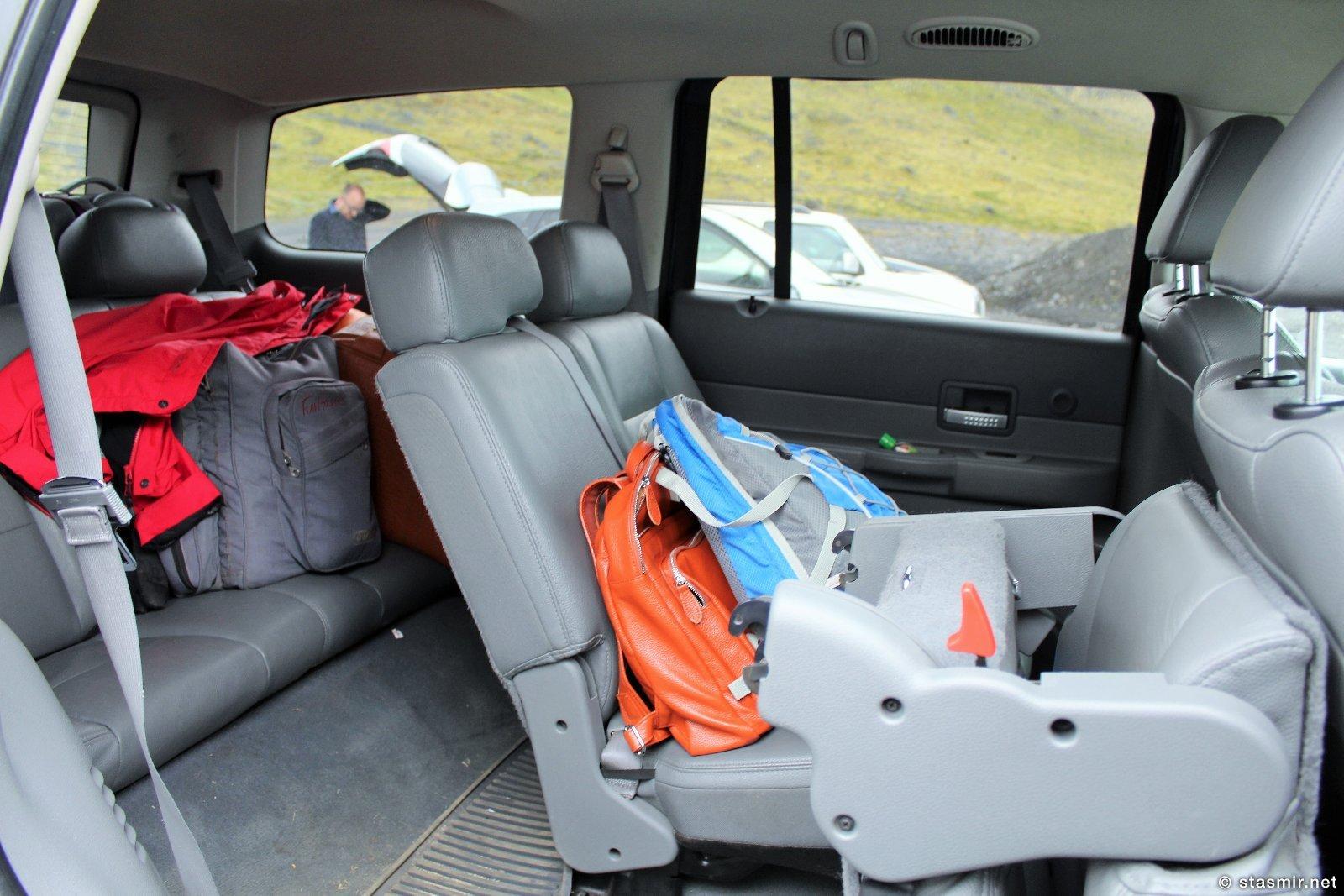 раскладка сидений в джипе Dodge Durango, Фото Стасмир, Photo Stasmir