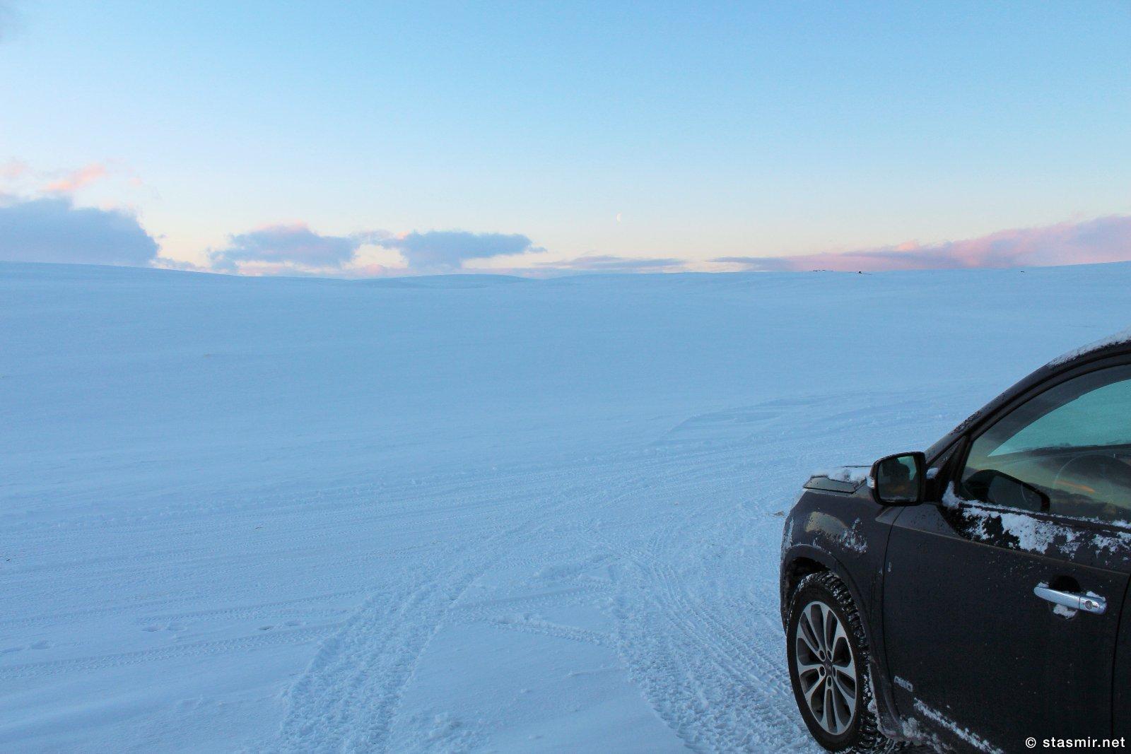 снежный поля Исландии, зима 2016 года, фото Стасмир, Photo Stasmir