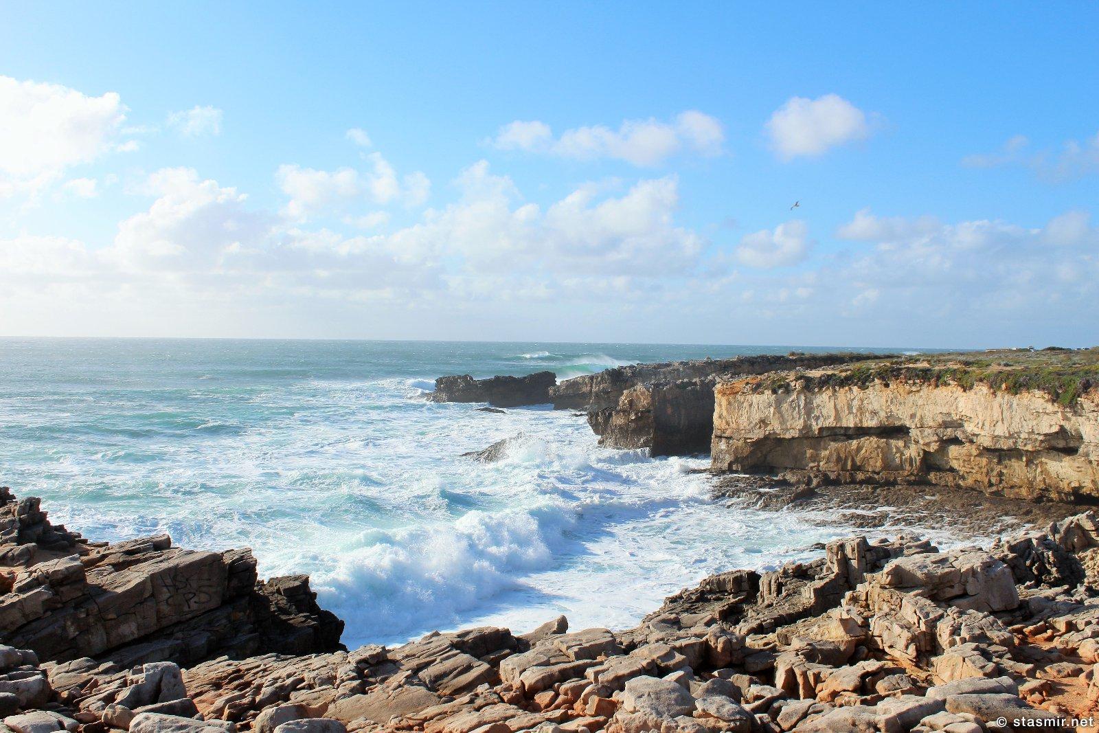 побережье в Португалии, Азеньяш-ду-Мар, Атлантический океан, фото Стасмир, Photo Stasmir