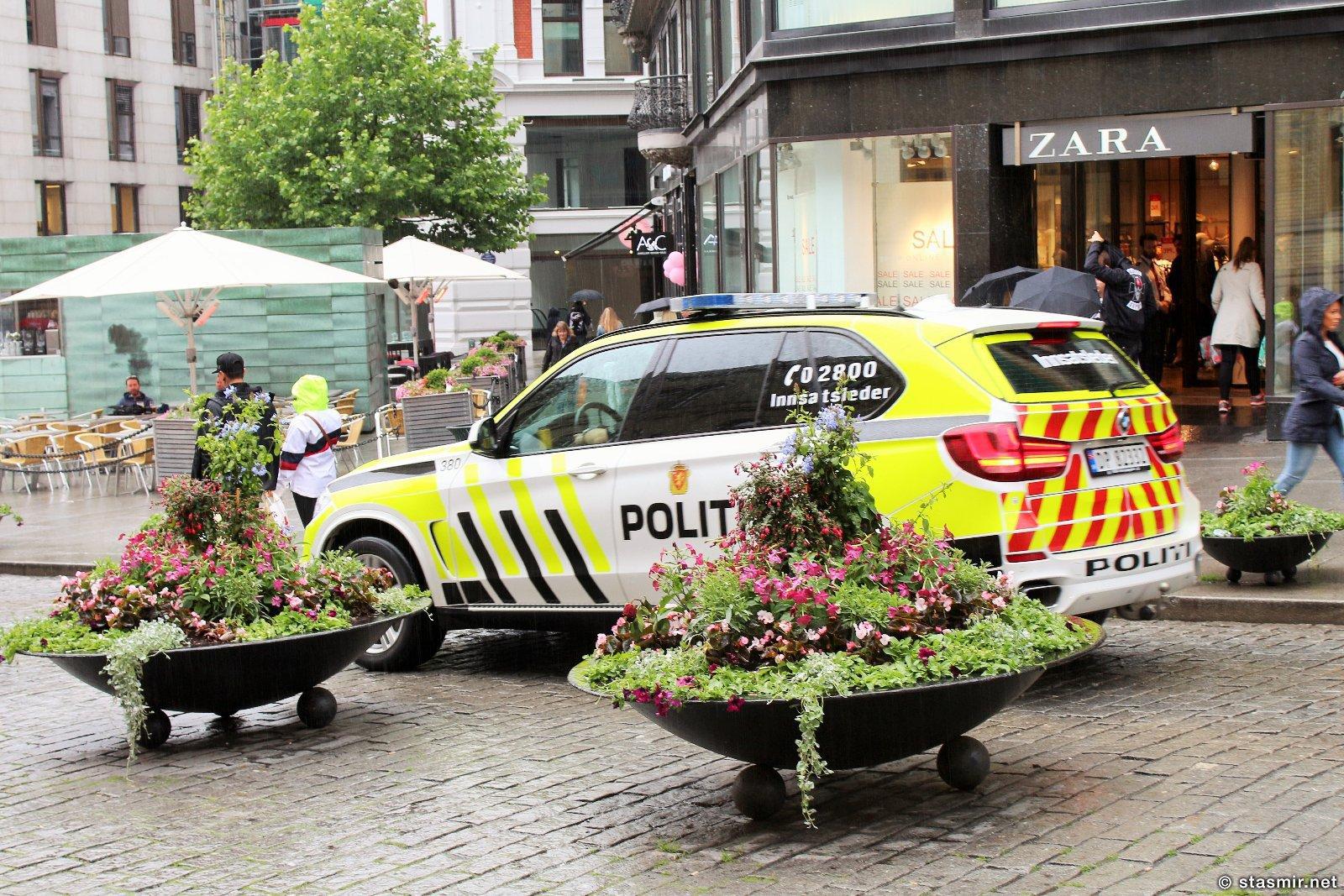 Полицейская машина в Осло, фото Стасмир, photo Stasmir