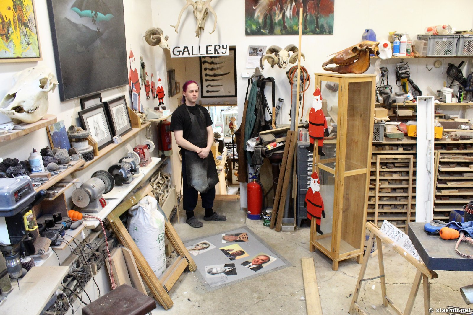 галерея ножей Паутля Кристйаунссона в Мосфельсбаере, фото Стасмир, photo Stasmir