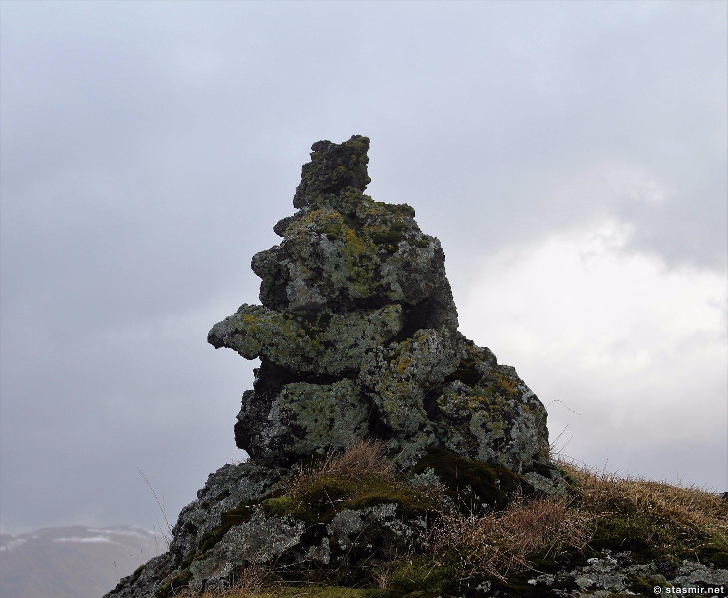 голова тролля в Южной Исландии, район Fljótshlíð, Photo Stasmir, фото Стасмир
