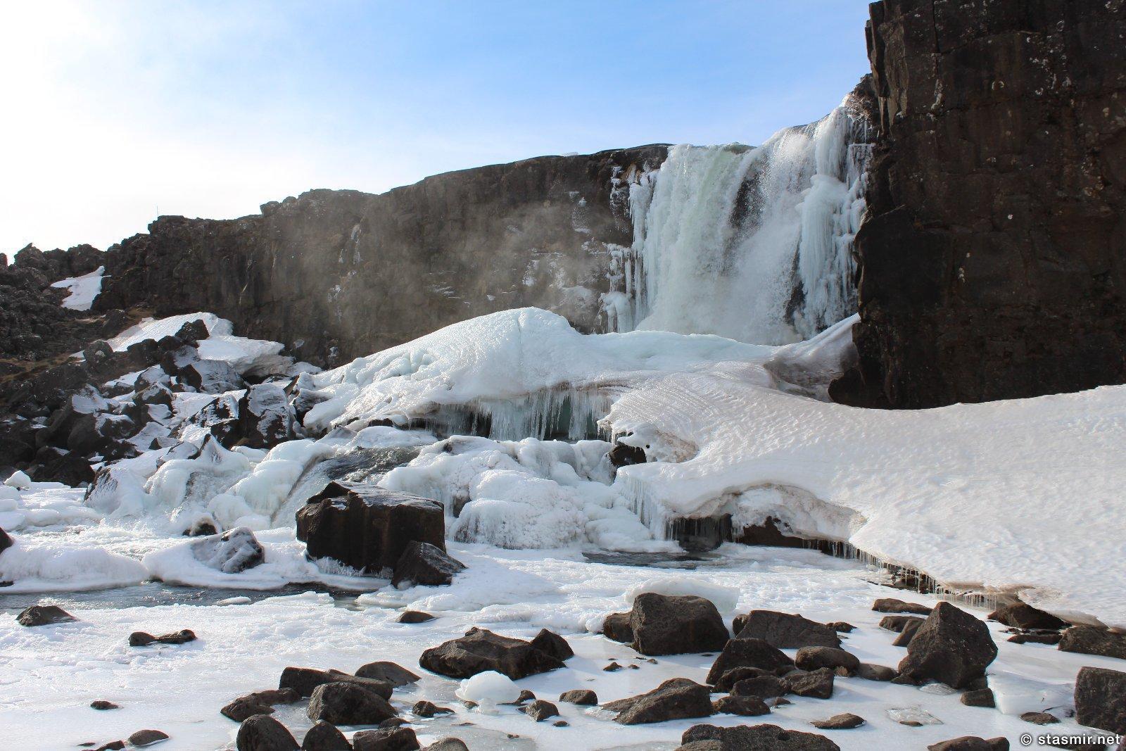 Зимняя Исландия, фото водопада из Игры престолов, фото Стасмир, photo Stasmir