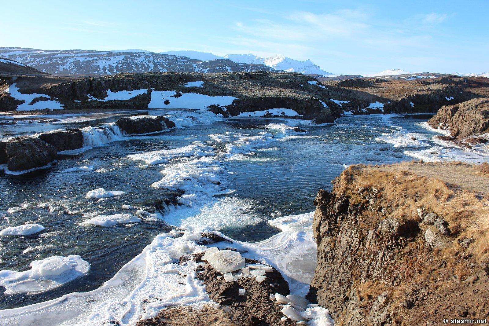 Зимняя Исландия, пороги, фото Стасмир, photo Stasmir