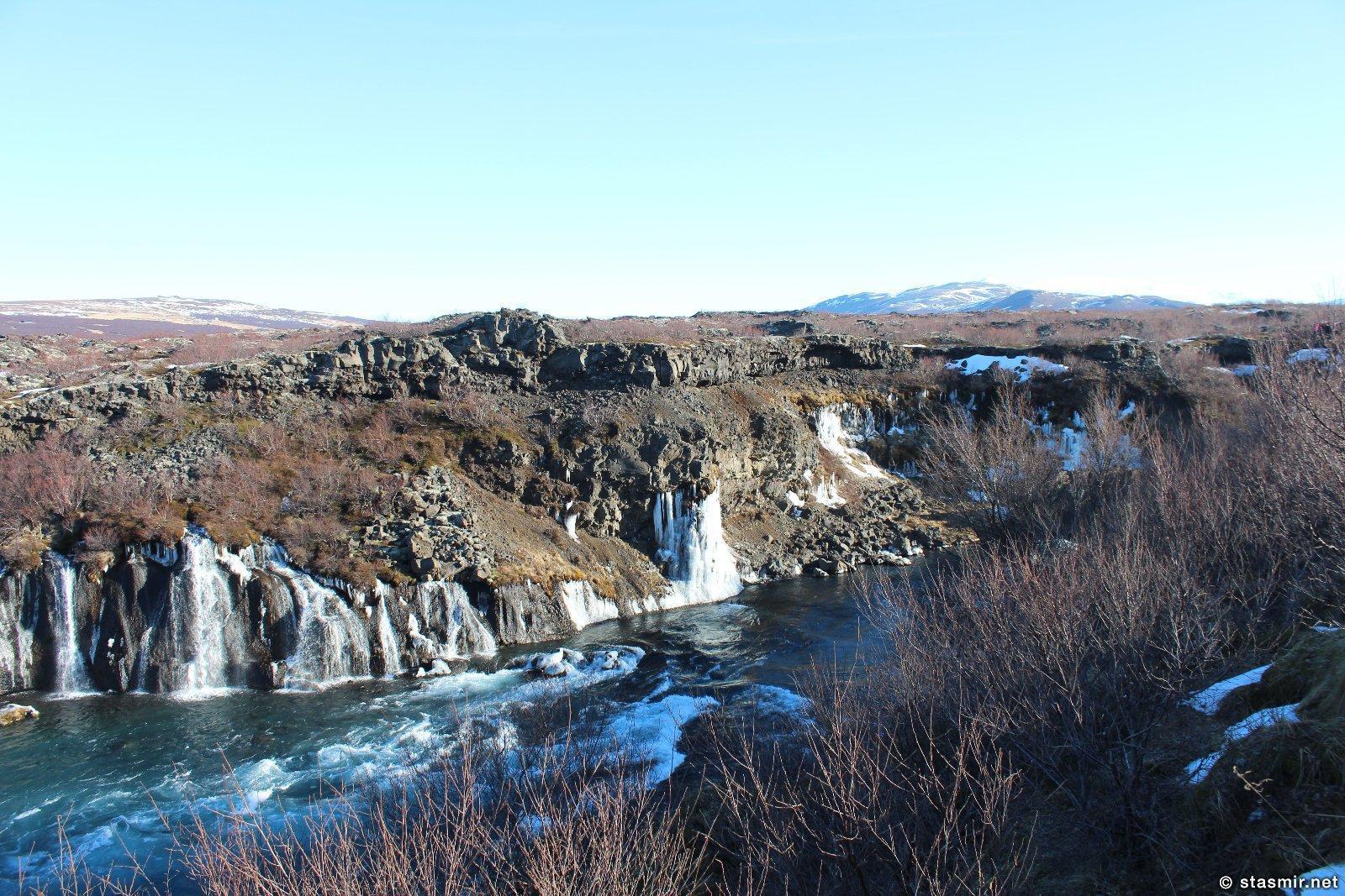 Зимняя Исландия: водопады среди лавы, фото Стасмир, photo Stasmir