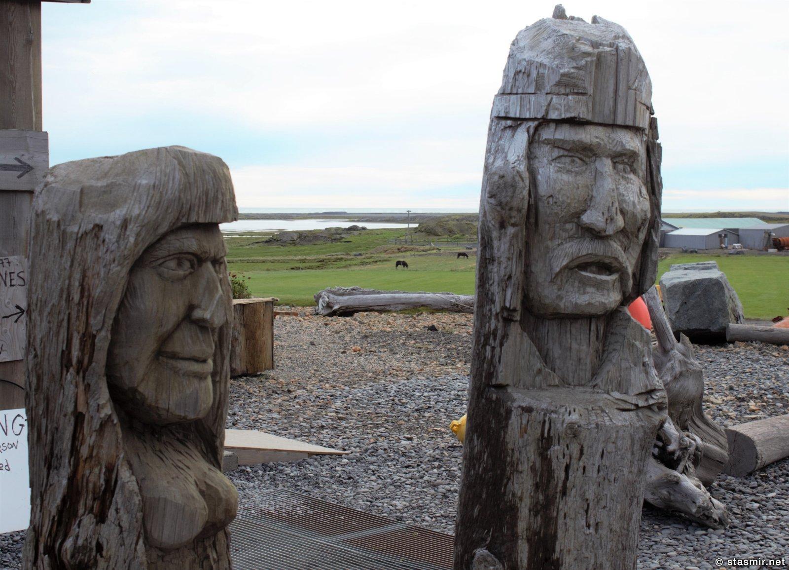 резные фигурки викингов, Восточная Исландия, фото Стасмир, photo Stasmir