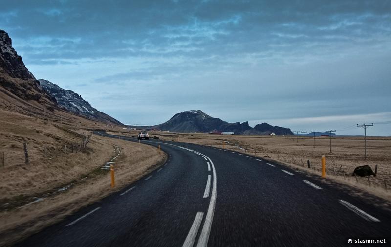 Окружная дорога (Route 1, Þjóðvegur 1 или Hringvegur) на Южном Берегу