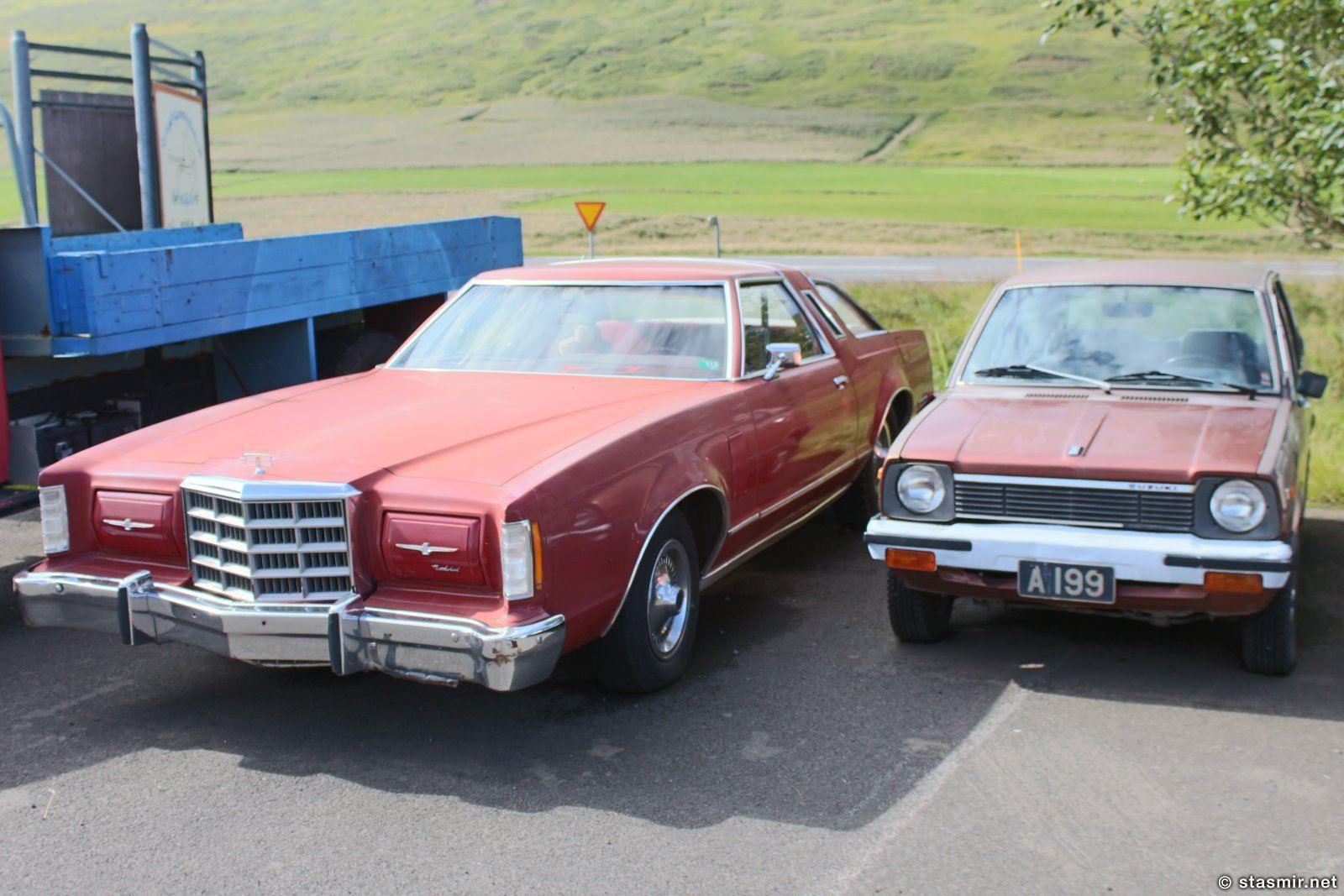 Линкольн и Хонда в музее Ystafell Transportation Museum рядом с Акюрейри, фото Стасмир, photo Stasmir