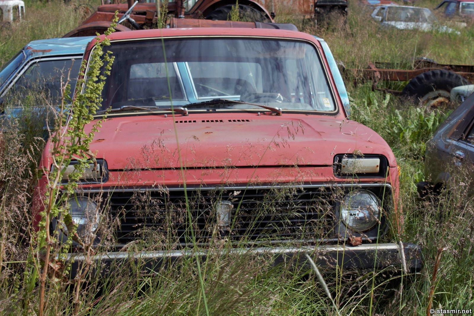 Старая Нива в музее машин Ystafell, Северная Исландия, Акюрейри, фото Стасмир, photo Stasmir