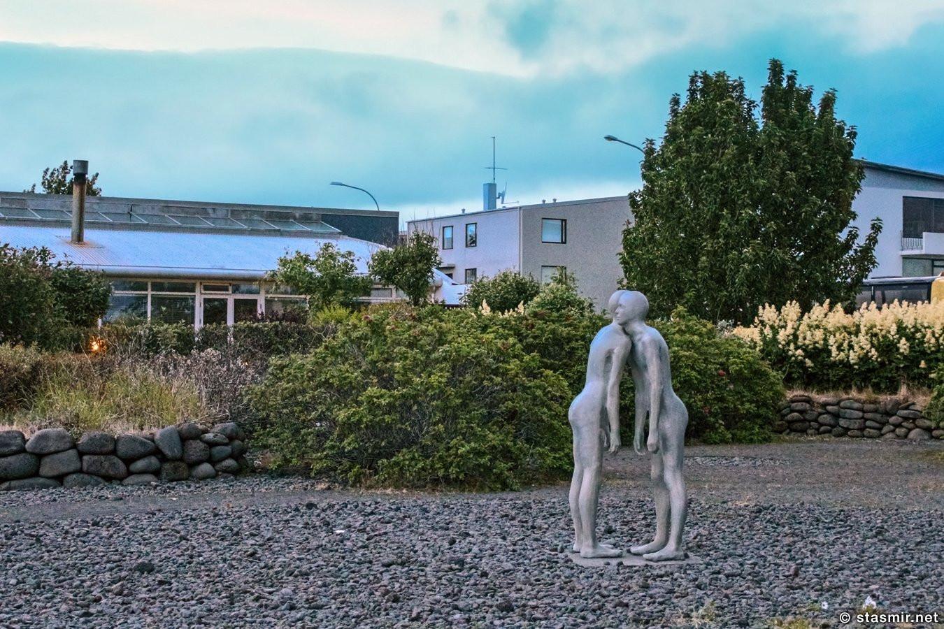 Скульптура «Тени» Steinunn Þórarinsdóttir, Рейкьявик, Селтьярнарнес, Фото Стасмир, Photo Stasmir