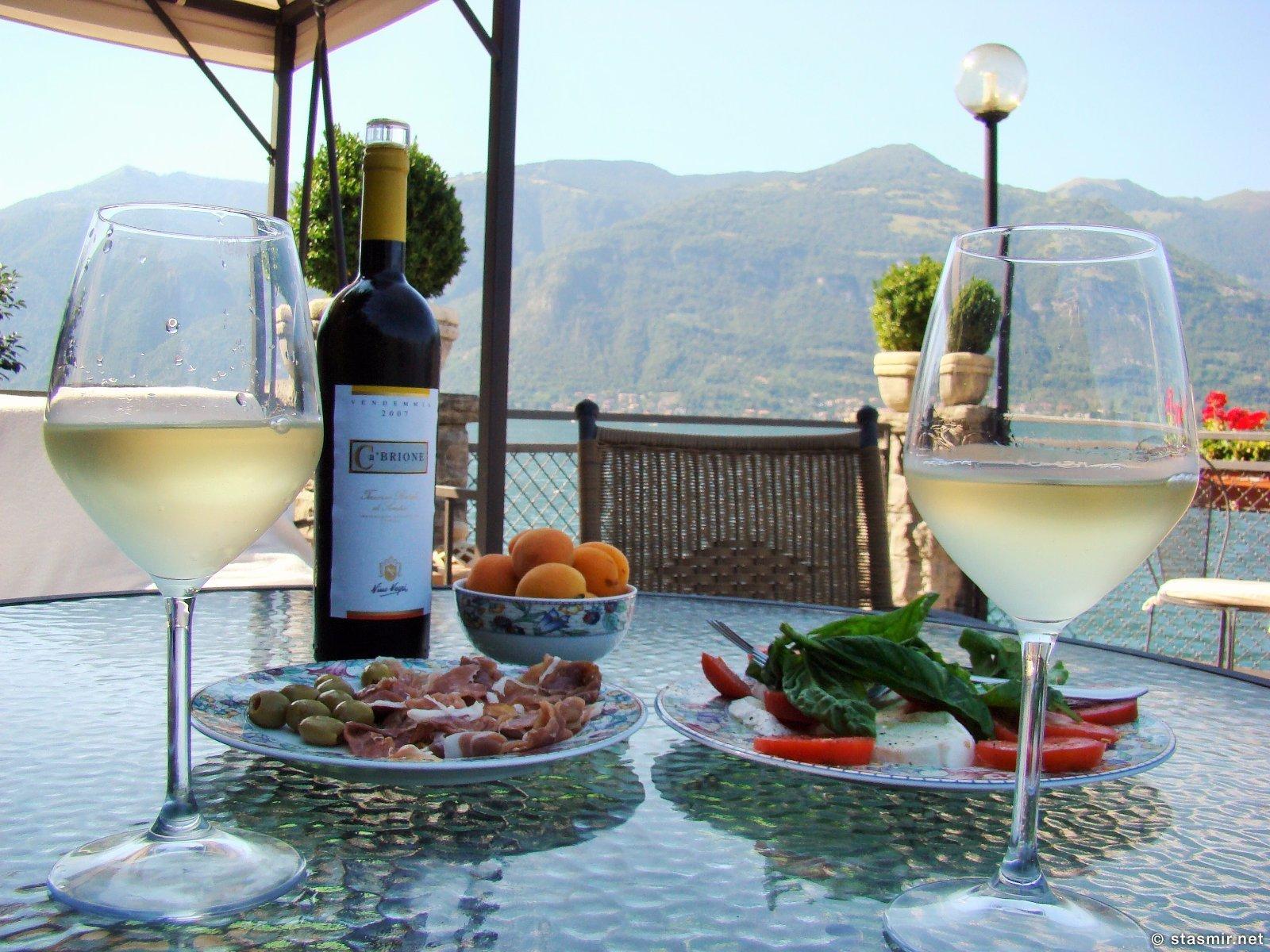 Завтрак Президента: озеро Комо, Лаго ди Комо, Северная Италия, фото Стасмир, Photo Stasmir