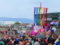 Гей-прайд 2015, Рейкьявик, викинг, кнорр, ладья, корабль викинга, розовые викинги, праздники в Рейкьявике, виды Рейкьявика, Photo Stasmir