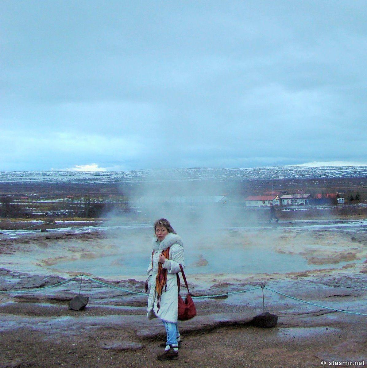 Пыхнул Строккюр, только что извергнулся гейзер, фото Стасмир, photo Stasmir