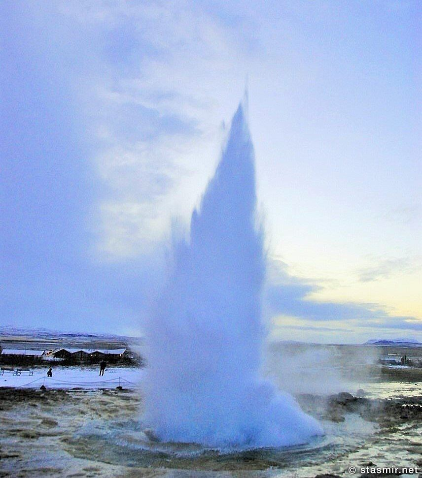гейзер Строккюр в действии, Гейсир, Золотое кольцо Исландии, Хёйкадалюр, Долина Гейзеров, photo Stasmir, Фото Стасмир