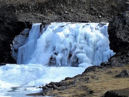 дорога на водопад Глимюр, Глимур, зима в Китовом фьорде, Исландия, фото Стасмир, Photo Stasmir