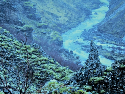 Дорога на водопад Глимур в Китовом фьорде в Исландии, Глимюр, фото Стасмир, photo Stasmir