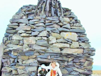 Памятник великану Бардуру в Артнастапи не полуострове Снайфедльснес, Gокровитель Исландии, Западная Исландия, магический ледник Снайфедльсйёкюдль, Snæfellsjökull, фото Стасмир, Photo Stasmir