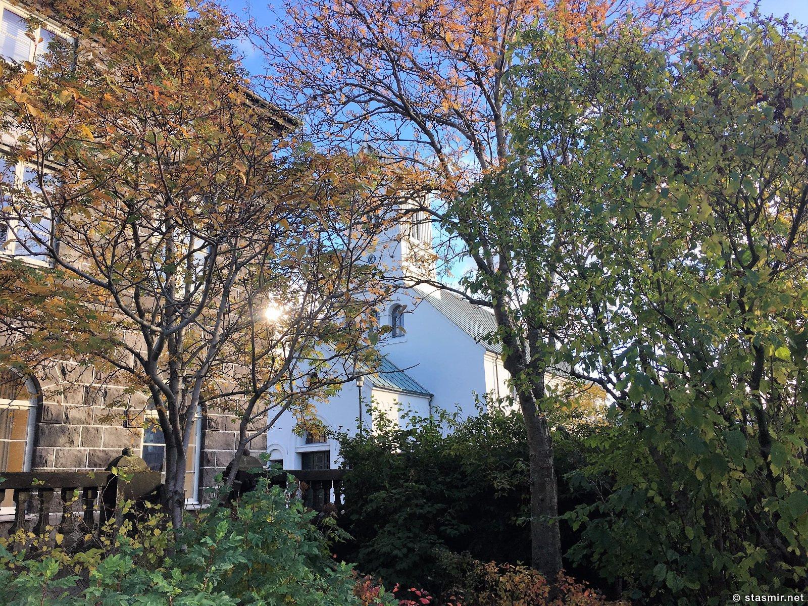 дворик парламента в Рейкьявике поздней осенью, фото Стасмир, Photo Stasmir