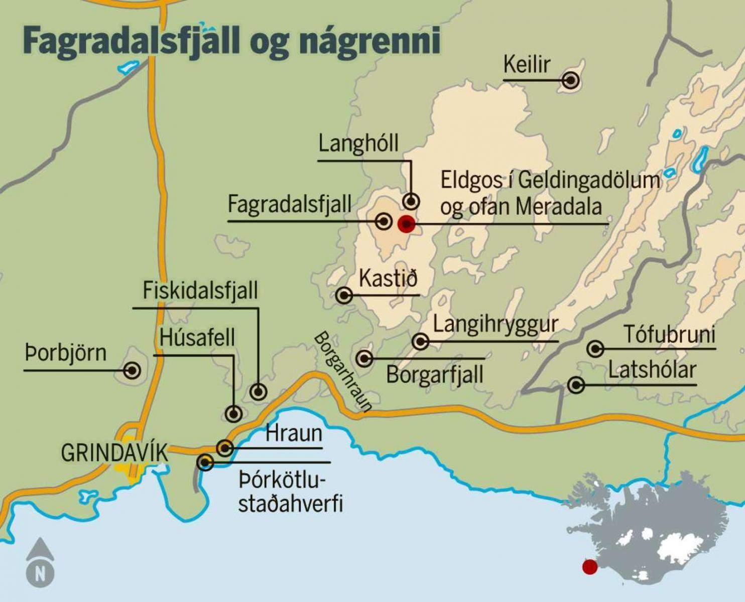 MBL-MAP of locations near the Eruption. Source https://www.mbl.is/mogginn/bladid/netgreinar/2021/04/08/banathufa_margra_vaskra_drengja/?_t=1618223939.3454254