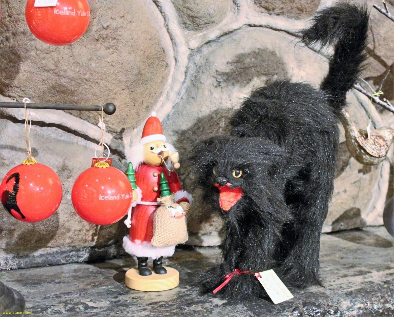 Рождественский кот в магазине новогодних игрушек, фото Стасмир, Photo Stasmir