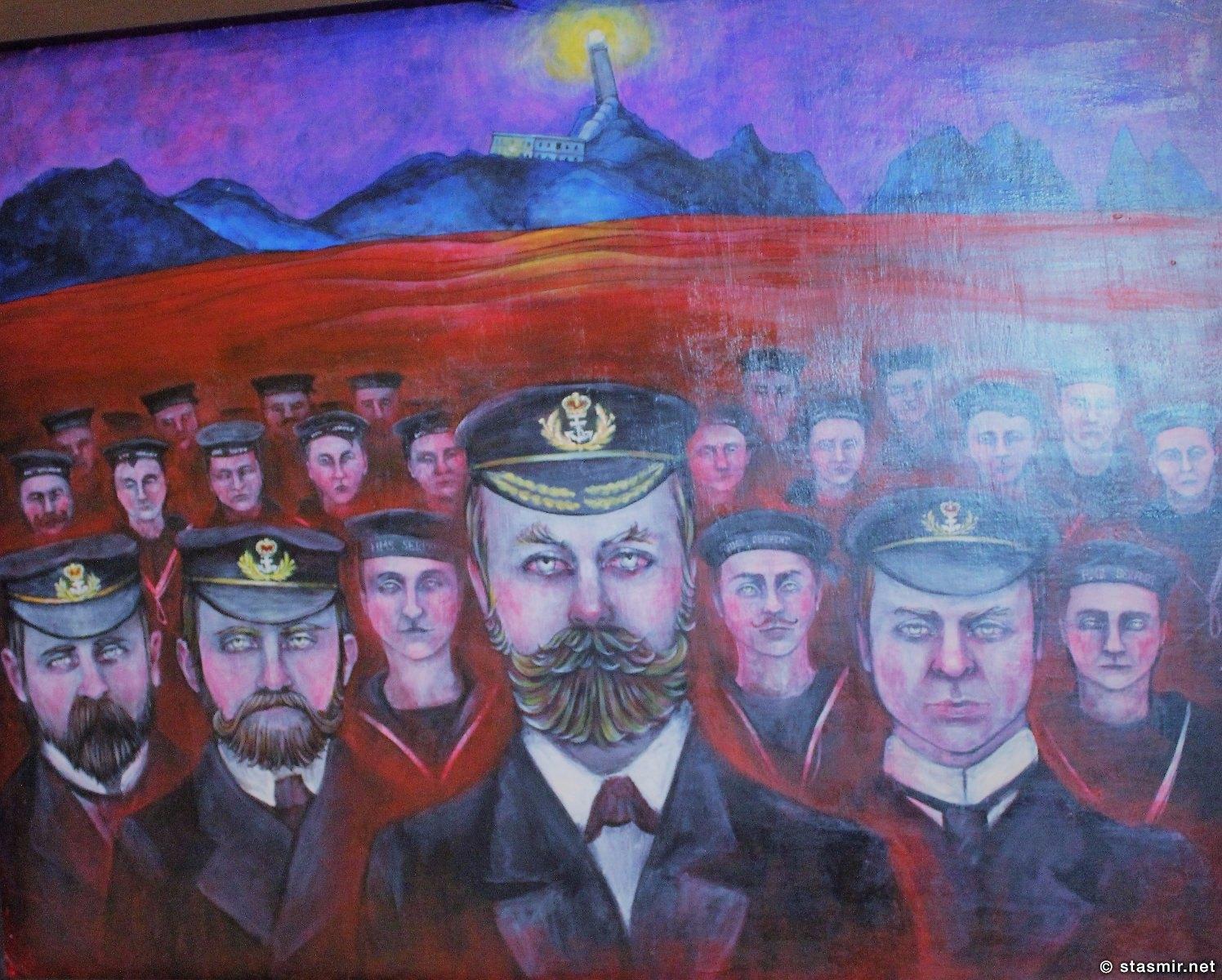 картина молдавской художницы Natasha Lelenko на краю земли в Галисии посавящена утонувшим морякам, фото Стасмир, photo Stasmir
