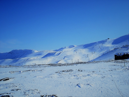 Лыжный курорт Bláfjöll в марте, когда там случился снег, фото Стасмир, photo Stasmir