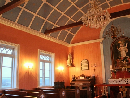 внутри церкви Страндкиркья в Selvogur, Сельвогюр, фото Стасмир, photo Stasmir